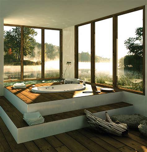 Nature Bathroom Themes Minimalist Rustic Bathroom With Japanese Theme Home