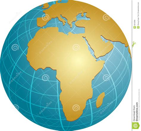 africa map globe map of africa on globe royalty free stock photos image