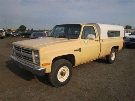 1986 chevrolet 4x4 1986 chevrolet custom deluxe 20 4x4 truck