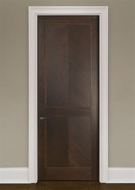 Interior Doors Solid Modern Interior Door Custom Single Wood Veneer Solid With Walnut Finish Modern Model