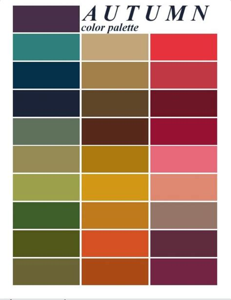 fall color schemes cool colours on pinterest color combinations color