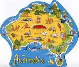map around australia australia remembering letters and postcards