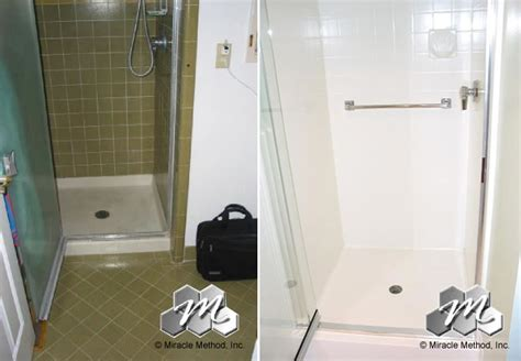 Cleaning Stained Bathtub How Does Tile Shower And Shower Pan Refinishing Work