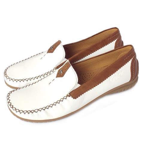 womens wide fit loafers gabor shoes california womens wide fit loafer in white