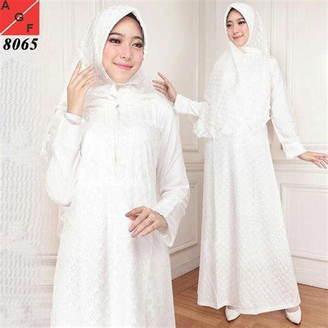 Gamis Putih Jumbo Baju Umroh Baju Manasik Baju Haji Busana Muslim jual baju muslim wanita busana muslim baju gamis putih e83 jmb agnes fashion88