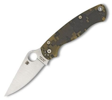 spyderco paramilitary camo spyderco paramilitary 2 pocket knife with camo g 10 handle
