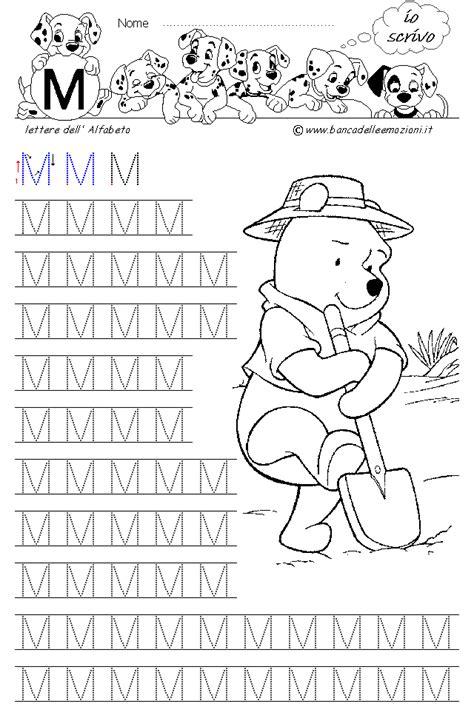 banca delle emozioni matematica www bancadelleemozioni it lettera m con winnie the pooh