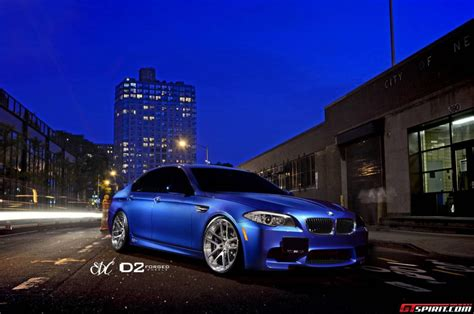 bmw supercar blue monte carlo blue bmw f10 m5 with d2forged wheels gtspirit