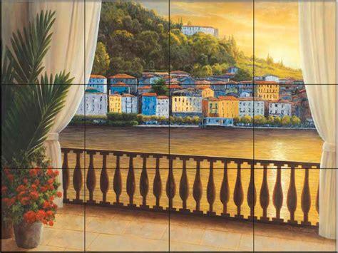 tile murals in small spaces mediterranean kitchen tile mural dr italian view kitchen backsplash ideas