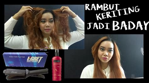 Catokan Rambut Bai Lu hair tutorial 2 rambut keriting gimbal jadi lurus