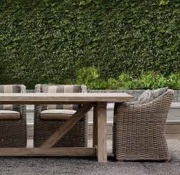 restoration hardware outdoor dining set images