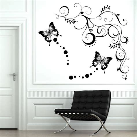 wall sticker butterfly butterfly vine wall stickers by parkins interiors