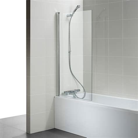 ideal standard connect 820 x 1400mm angle bath screen