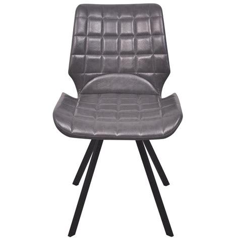 sedie da pranzo sedia da pranzo in simil pelle 2 pezzi colore grigio