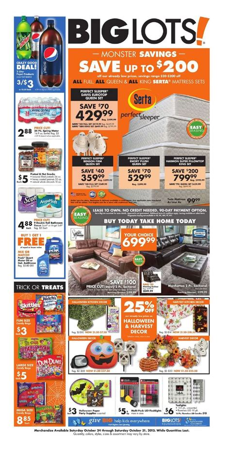 Furniture Weekly Ad by Big Lots Furniture October 24 31 2015 Http Www