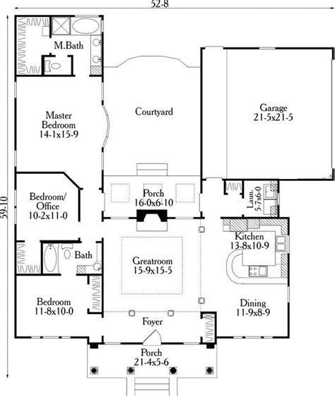 u shaped house plans with courtyard more intimacy small u shaped house plans first floor plan of house
