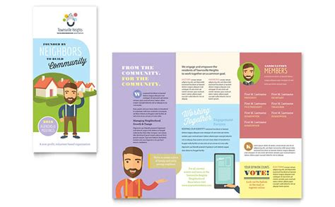 brochure template free microsoft word homeowners association brochure template design