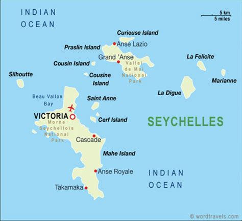 seychelles map uniglobe travel international travel planning