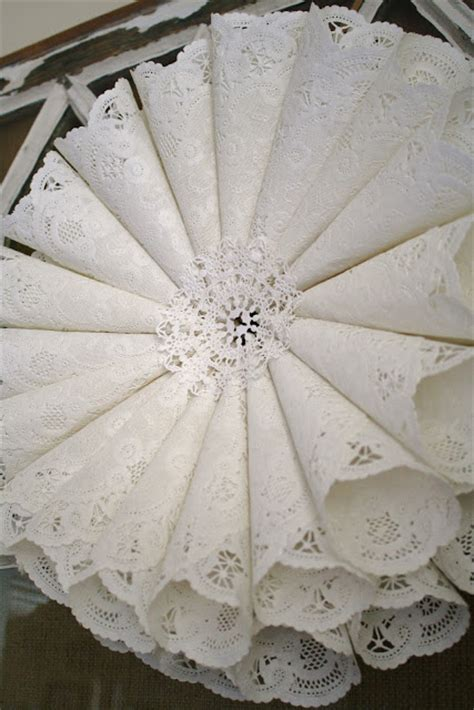Paper Doily Craft - paper crafts for paper doily wreath tutorial