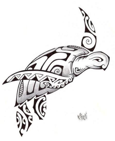 turtle polynesian tattoos silhouette cameo pinterest