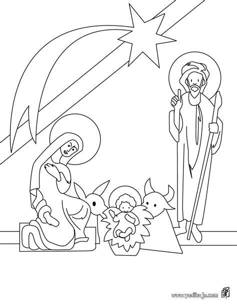 imagenes infantiles nacimiento de jesus dibujos para colorear el belen es hellokids com