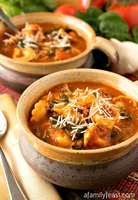 slow cooker comfort food slow cooker tomato and tortellini soup recipe