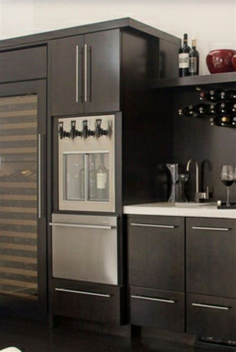 Basements Ideas by The Wine Dispenser Built Into The Cabinet Ideas For New