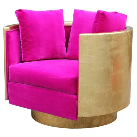 pink swivel chairs ultra glam modern gold leaf and pink velvet swivel
