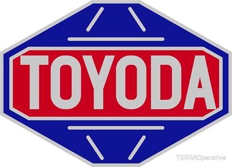 toyota old logo quot original toyota logo toyoda sticker quot stickers by