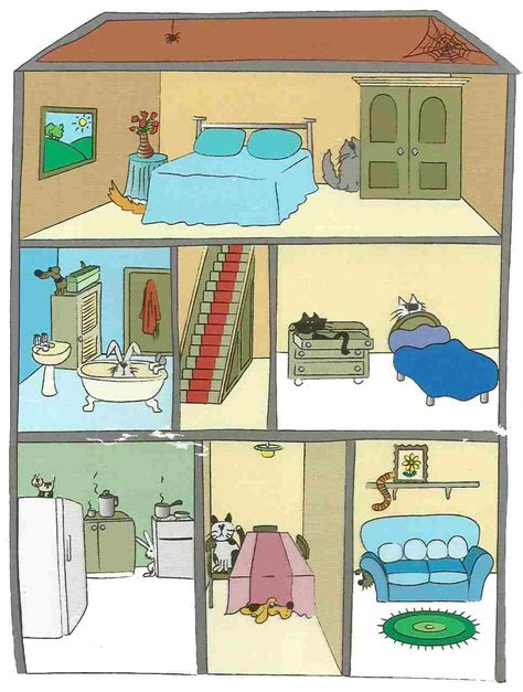 english exercises house prepositions of place