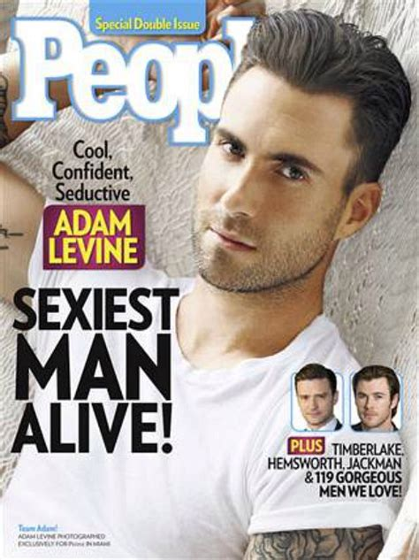 Do You Agree With People S Pick Of Adam Levine For Sexiest Man Alive Sexiest Alive Magazine Cover Template