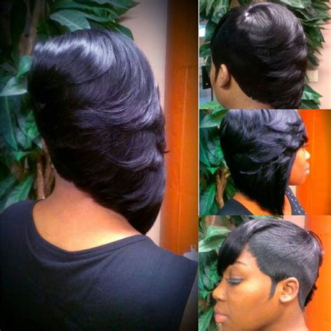 27 Piece Short Side Bob | 27 side razor cut acemetric bob 27 piece quick