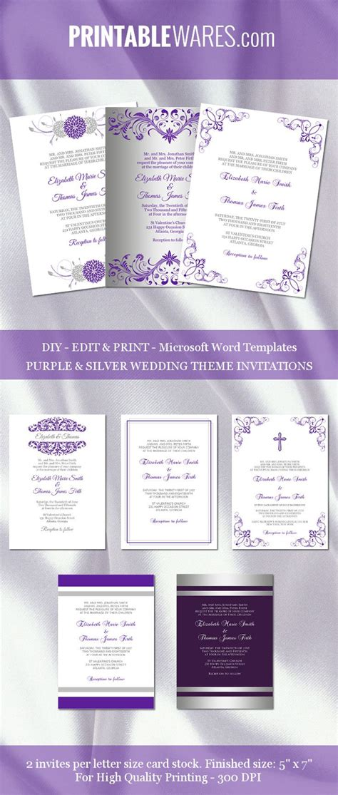 wedding invitation card templates word best party ideas