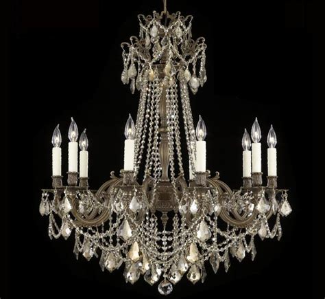 Biella Collection Large Brass Crystal Chandelier Grand Large Chandelier Lighting