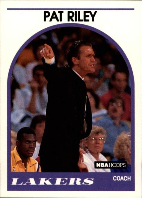 Pat Rilet Mba Card by Sports Card Attic Item 302063 1989 90 Hoops 108 Pat
