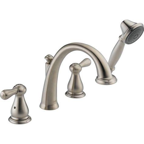 Leland Faucet by Delta Leland 2 Handle Deck Mount Tub Faucet With