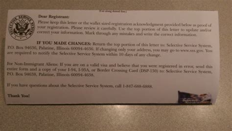 Selective Service Letter In The Mail My Will Never Be A Conscript Cafe Hayek
