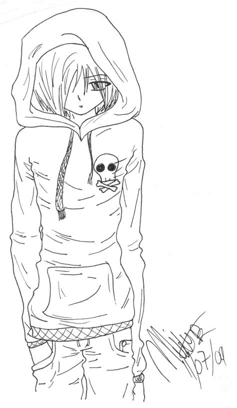 Emo Anime Guy By Akemikae On Deviantart Anime And Boy Coloring Pages Free