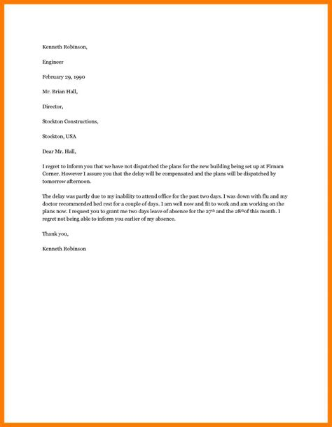 sle of vacation letter leave for vacation letter 25 images 11 leave letter