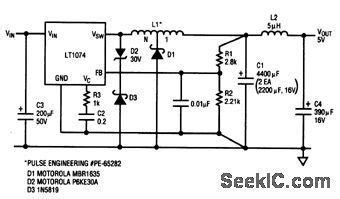 tapped inductor circuit tapped inductor buck converter power supply circuit circuit diagram seekic