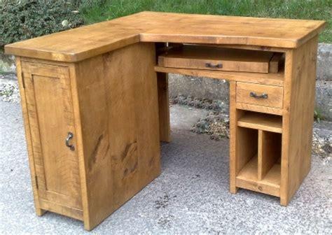 large corner computer desk rustic plank furniture