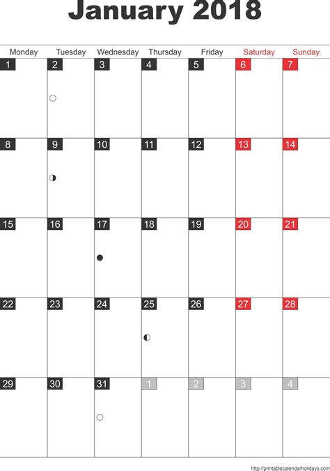 2018 printable calendar templates printablecalendar biz