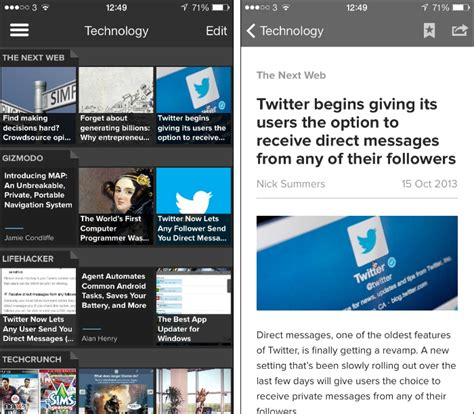 newspaper layout app 10 best iphone news and news reader apps