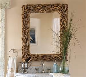 driftwood bathroom mirror pottery barn driftwood mirror look 4 less