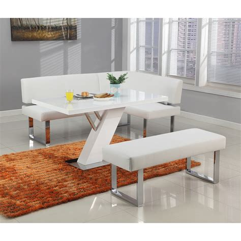 white faux leather bench linden bench faux leather gloss white dcg stores