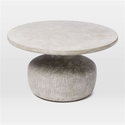 Outdoor Drum Table by Tambor Concrete Outdoor Drum Coffee Table West Elm