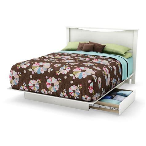 white queen platform bed with storage south shore majestic full 54 inch queen 60 inch platform bed with storage pure white