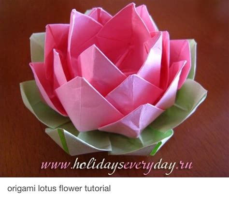 Origami Lotus Tutorial - flower wreath tutorial trusper
