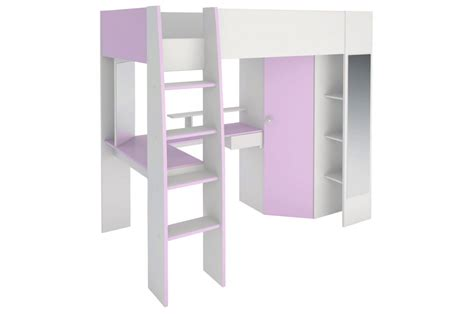 Lit Mezzanine Enfant Fille by Lit Mezzanine Fille Bureau Dressing Beaut 233 Novomeuble