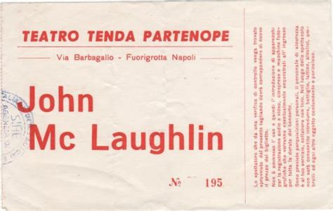 teatro tenda partenope mclaughlin 13 febbraio 1987 napoli